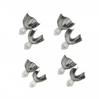 Impression tray perforated SET of 8